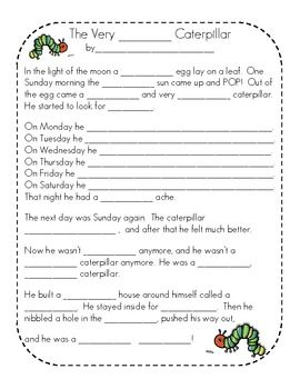 The Very Hungry Caterpillar Activities and Lesson Plan The Very ...