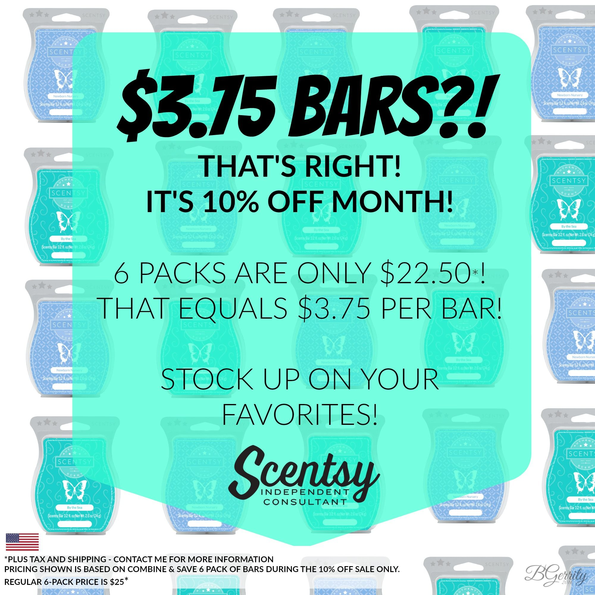 a947bc5843ca3 SCENTSY - AUGUST 10% OFF SALE - SCENTSY BARS Bars On Sale - USD ...