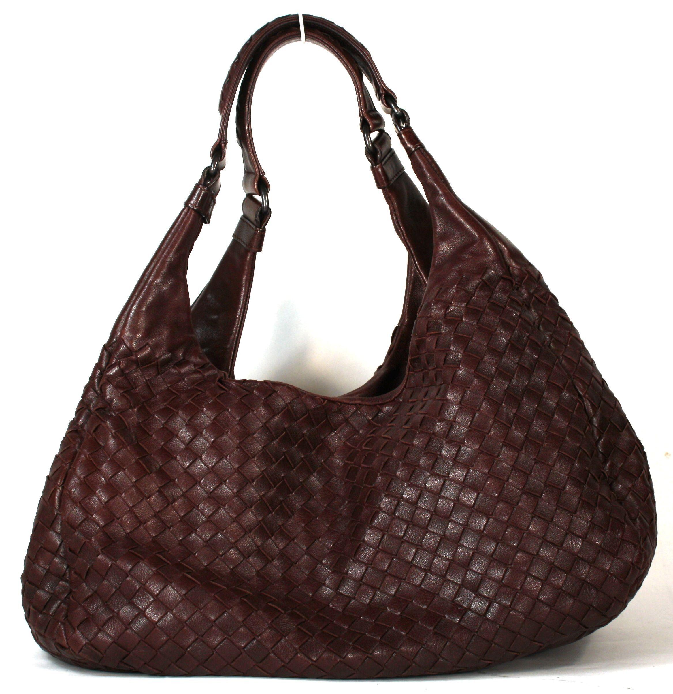 Bottega Veneta Dark Brown Woven Leather Hobo Bag Layaway Available Review Now