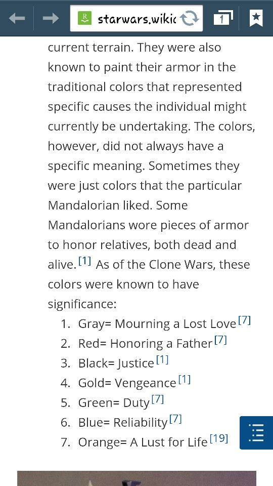 Mandalorian color scheme