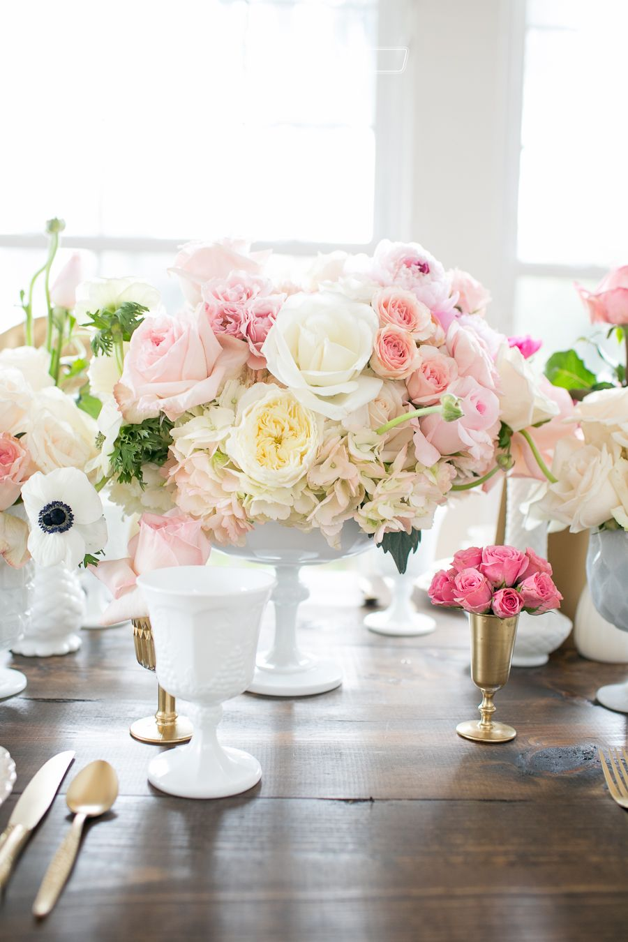 Cypress Grove styled wedding blush pink and gold and mint details ...