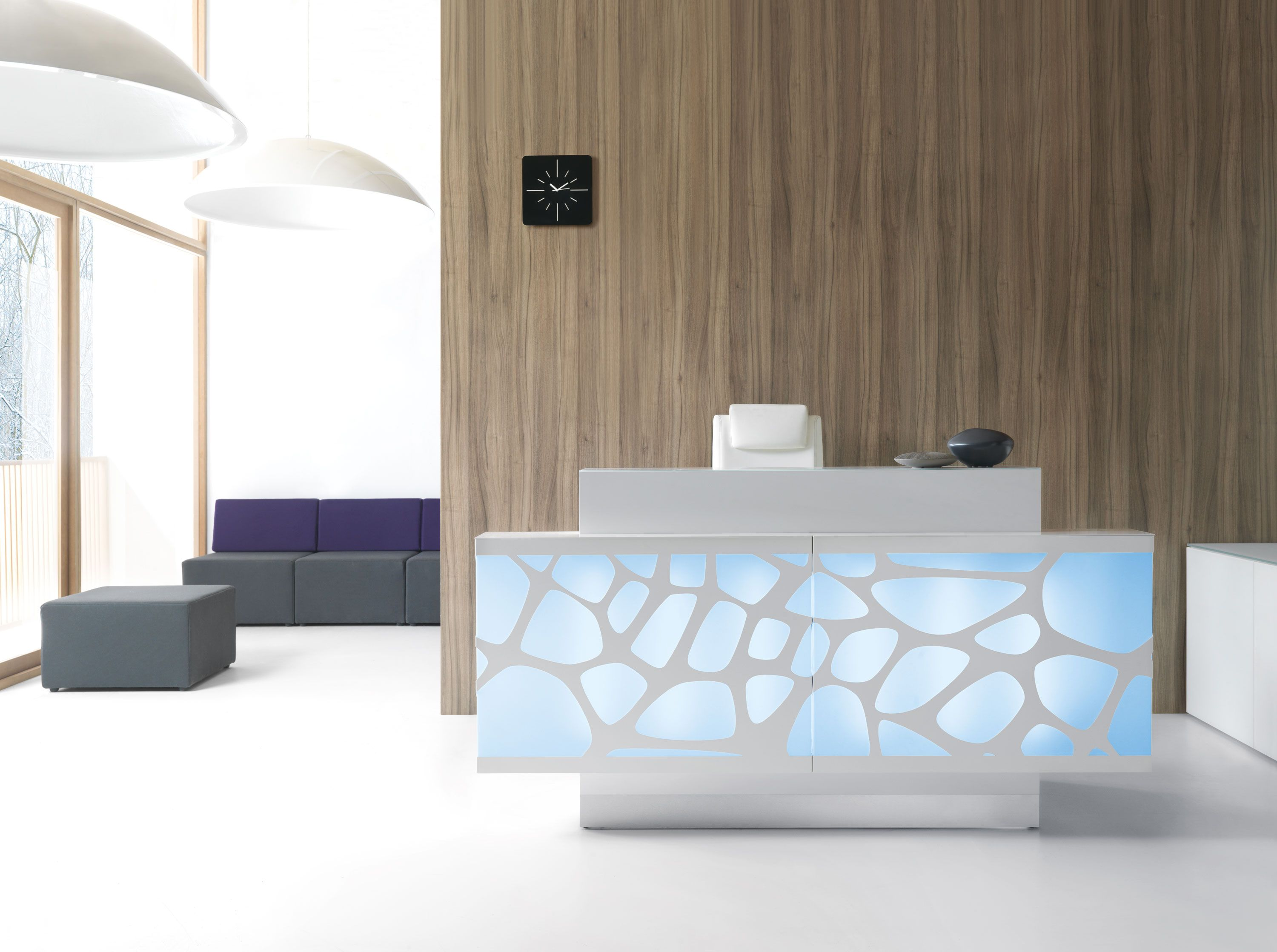 This Modern Reception Desk Can Change Its Color And Fit