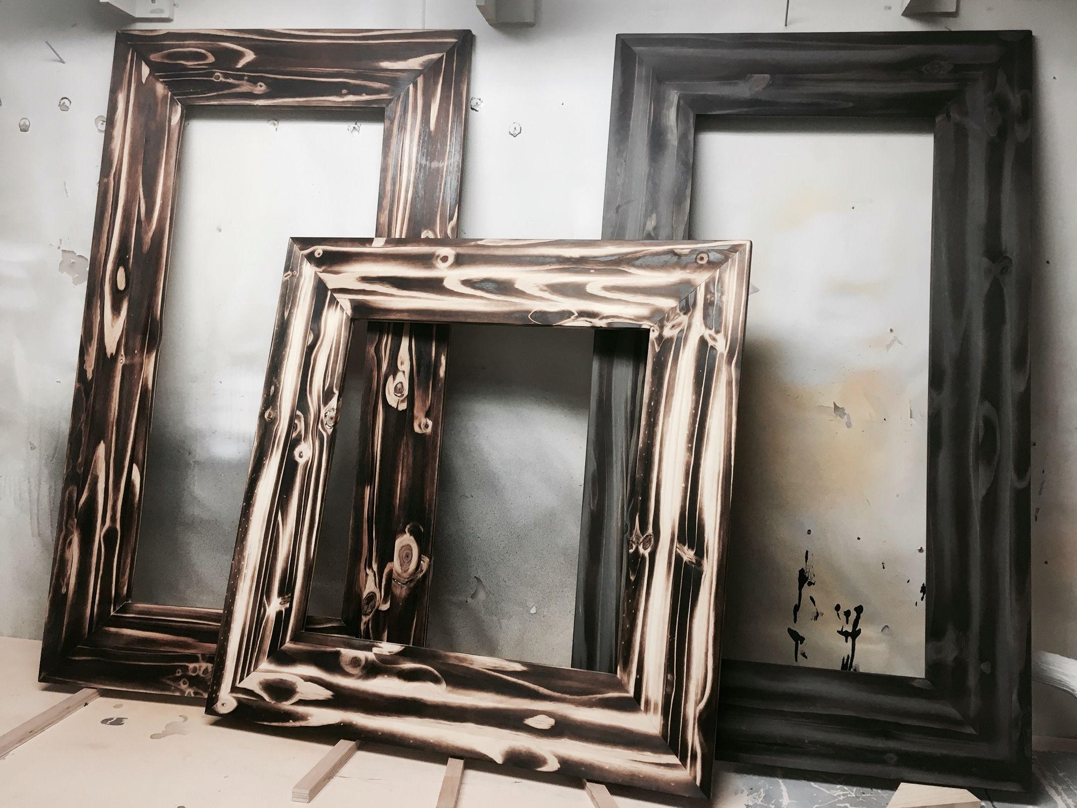 Knotty Pine Mirror Frames