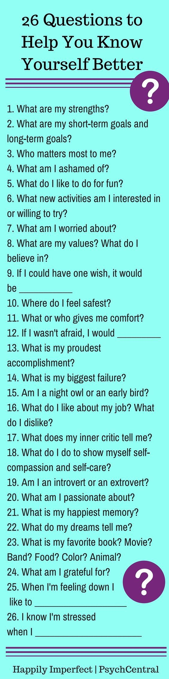 26 questions to help you know yourself better interview journal 26 questions to help you know yourself better