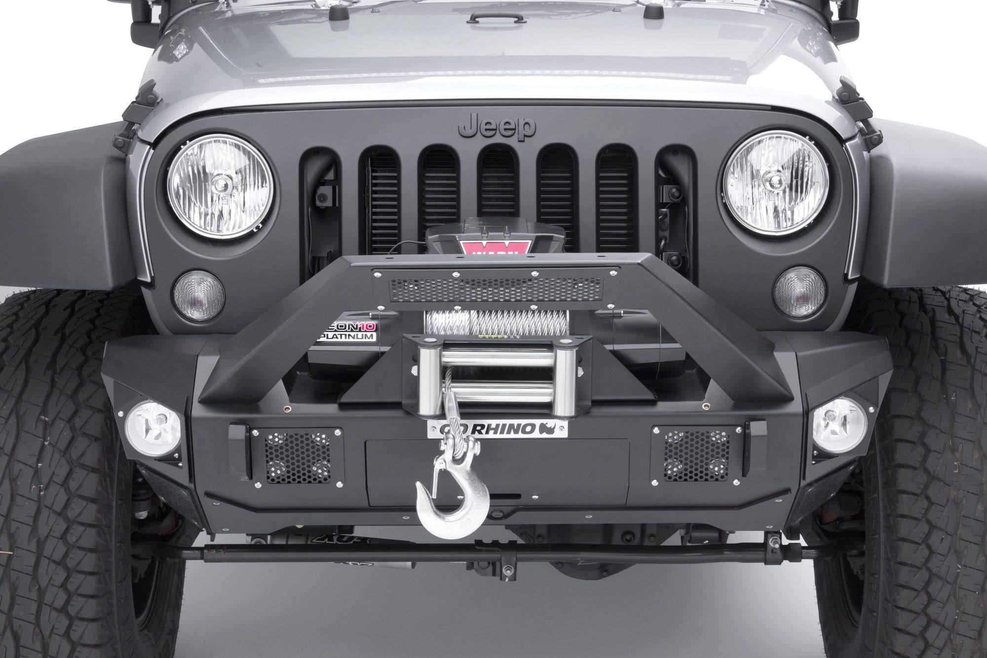 The Go Rhino Brj40 Front Bumper Is The Ultimate Modular Bumper For The Jeep Wrangler Jk Completing The Brj40 Front Bumper Is A Jeep Wrangler Jeep Lifted Jeep