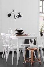 Ellos Home Ruokapöytä Valkoinen, Musta - Ruokapöydät | Ellos Mobile