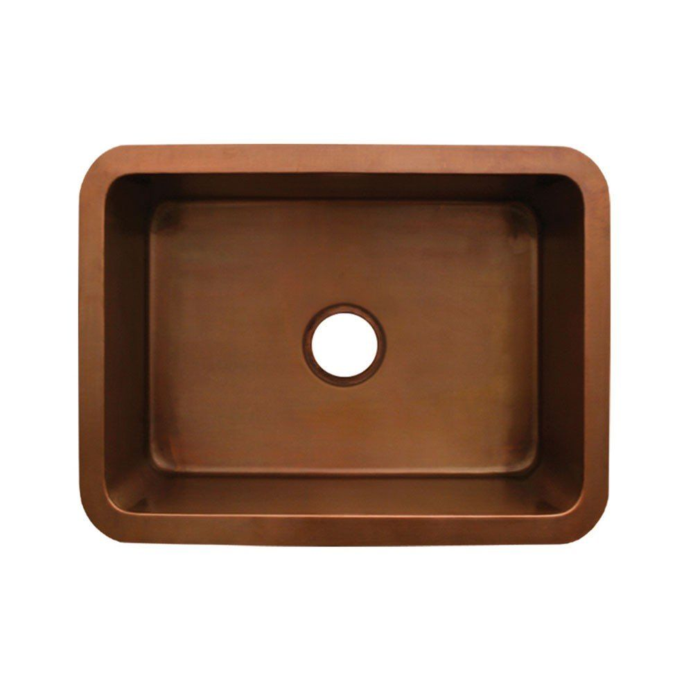 Whitehaus Copperhaus 25 Inch Undermount Copper Kitchen Sink Copper