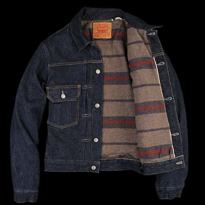 UNIONMADE - Levi s Vintage Clothing - 1953 Type II Jacket Blanket Lined  Rinse a11f34e04f