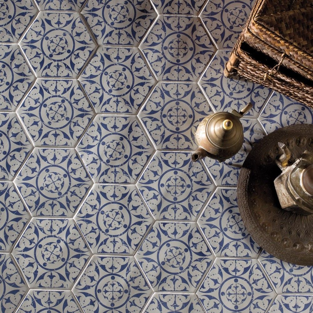 Seville persian blue hall pinterest persian kitchen floors our seville persian blue hexagons are pretty classy if youre looking for some laid back patterned tiles youve found them dailygadgetfo Image collections