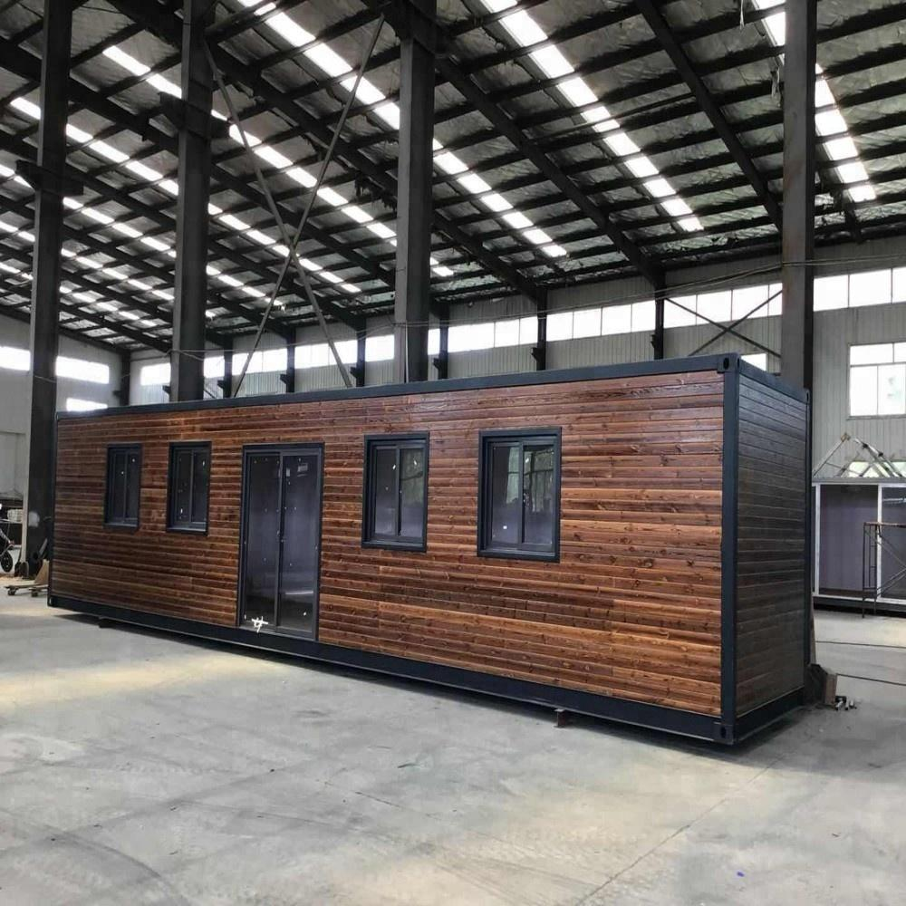 40 Studio Container W Surrounding Wood Features Simpleterra