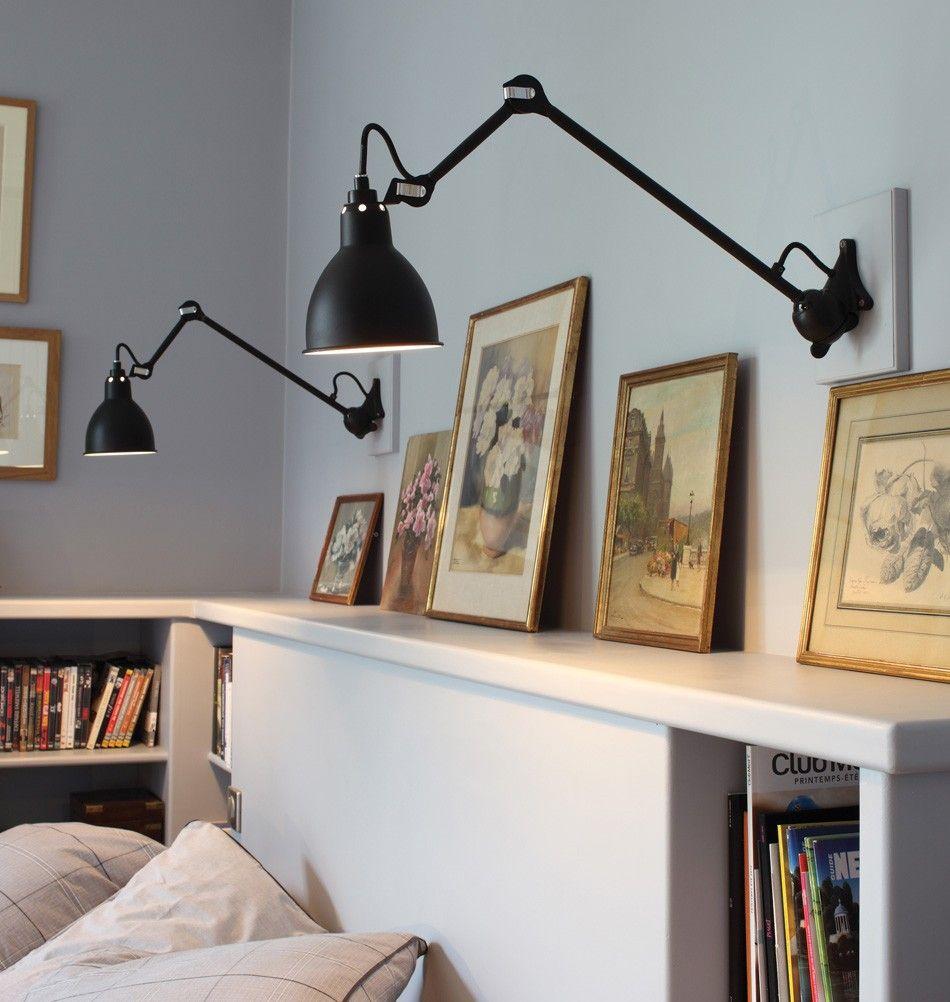 """Wandlampe """"GRAS N°16"""" schwarz  Wandleuchte schlafzimmer"""