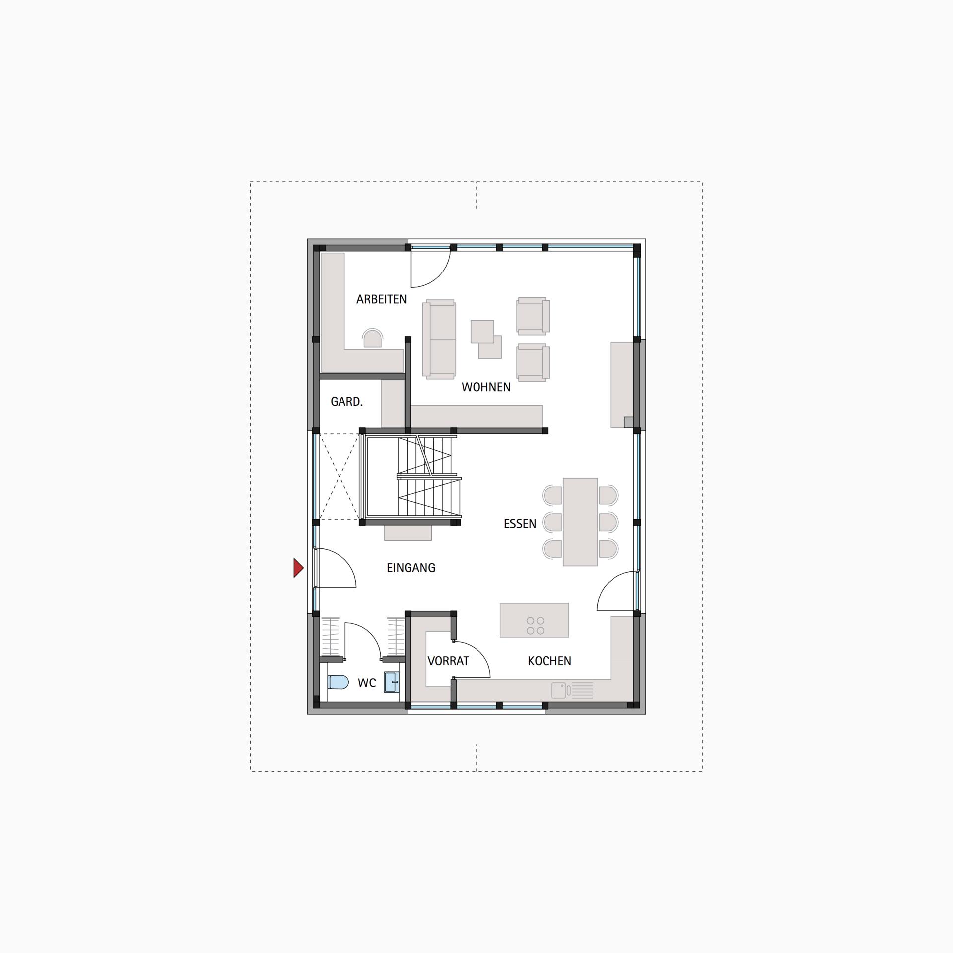 Erdgeschoss haus front design huf fachwerkhaus grundriss erdgeschoss modum   haus  pinterest