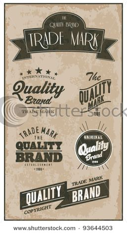 Stock Vector Illustration:  Vintage Styled Premium Quality label banner collection