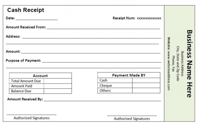 Cash Receipt Template Shafi Pharmacy centre Pinterest – Cash Paid Receipt