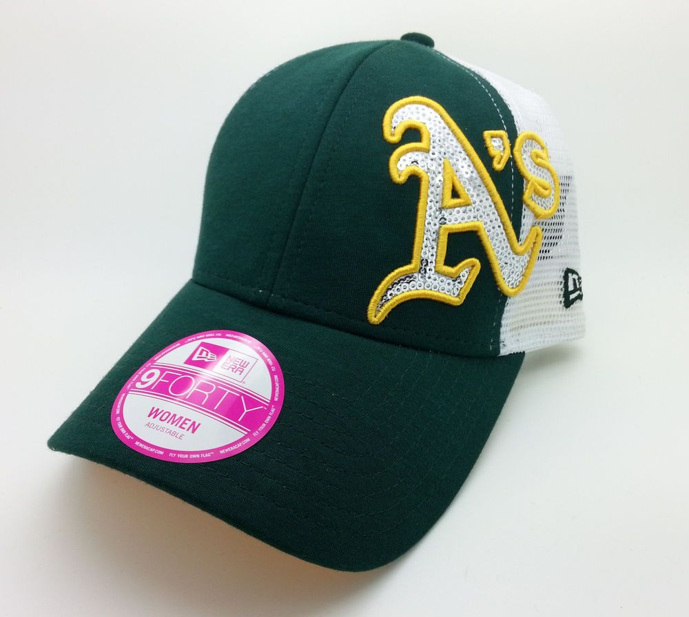f491e7a47 OAKLAND ATHLETICS A's SEQUIN SHIMMER NEW ERA 9FORTY WOMEN HAT/CAP ...