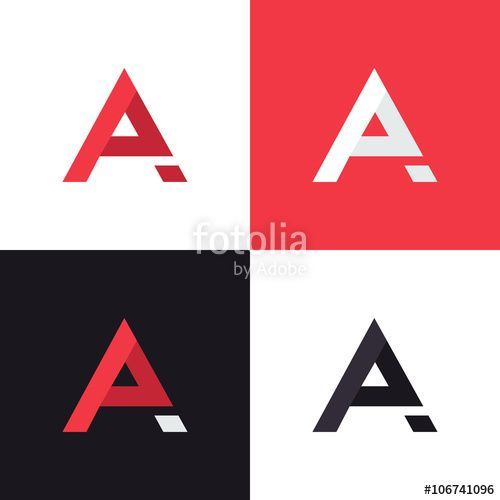 vector a letter logo design template in different colors