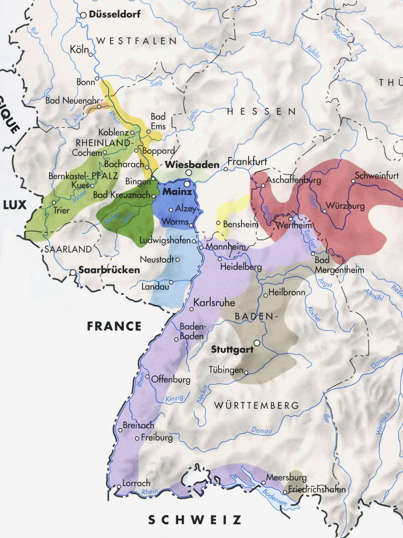 BWineb Regions Of Germany Jpg WINE INFORMATION Pinterest - Germany map regions