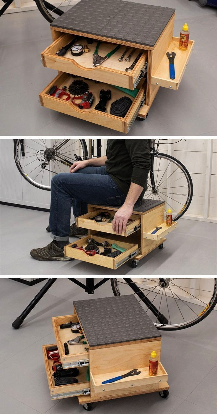 und Werkzeugaufbewahrungswagen Rollsitz und Werkzeugaufbewahrungswagen  How To Build A Rolling Storage Seat  DIY Rolling Work Seat  YouTube Do you enjoy woodworking but d...
