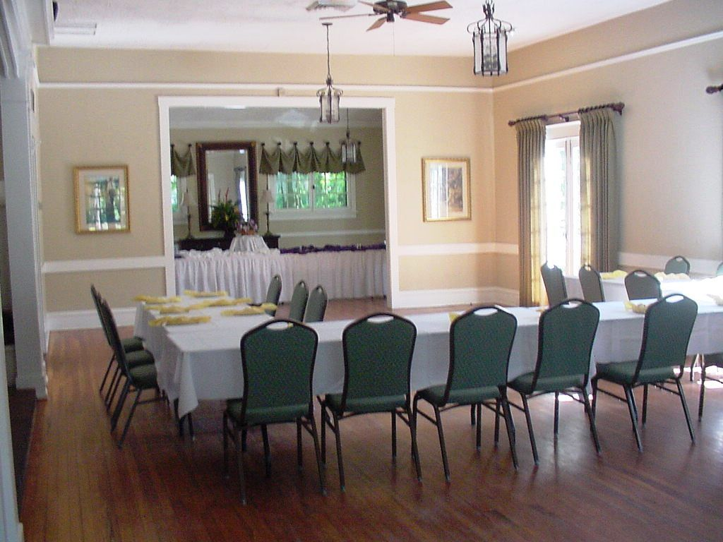 The main dining room seats 60. This facility is air