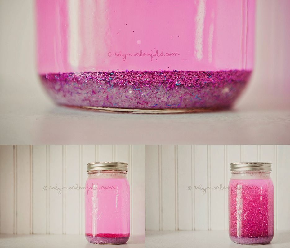 Calming Jar- Tell the child that he/she needs a break and may return when everything has settled to the bottom of the jar. Perfect