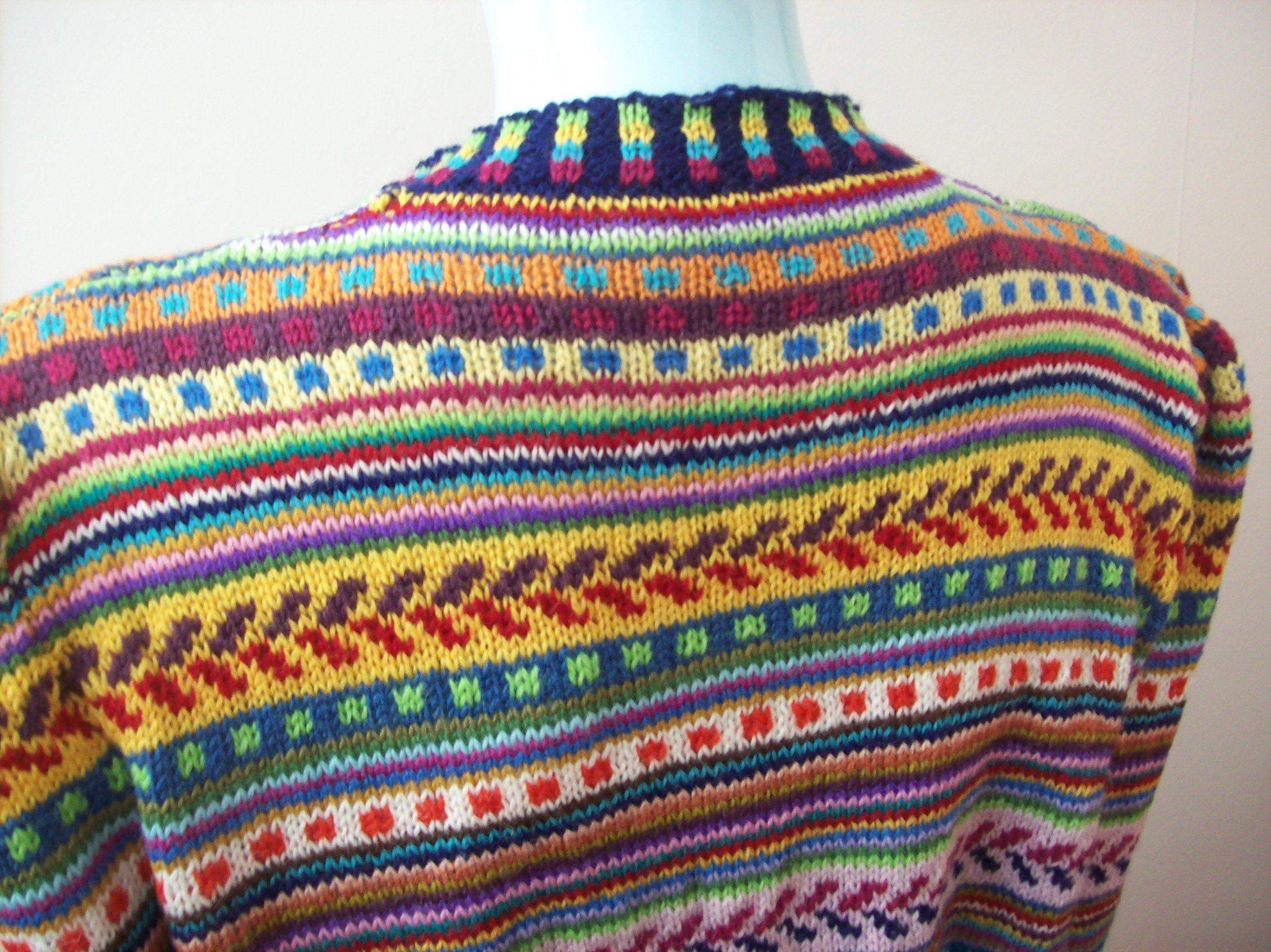 Jazzy hippie stripey knit jumper   Modern hippie style ...