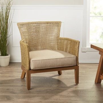 Bartram Arm Chair Chair Accent Chairs Tropical Living Room