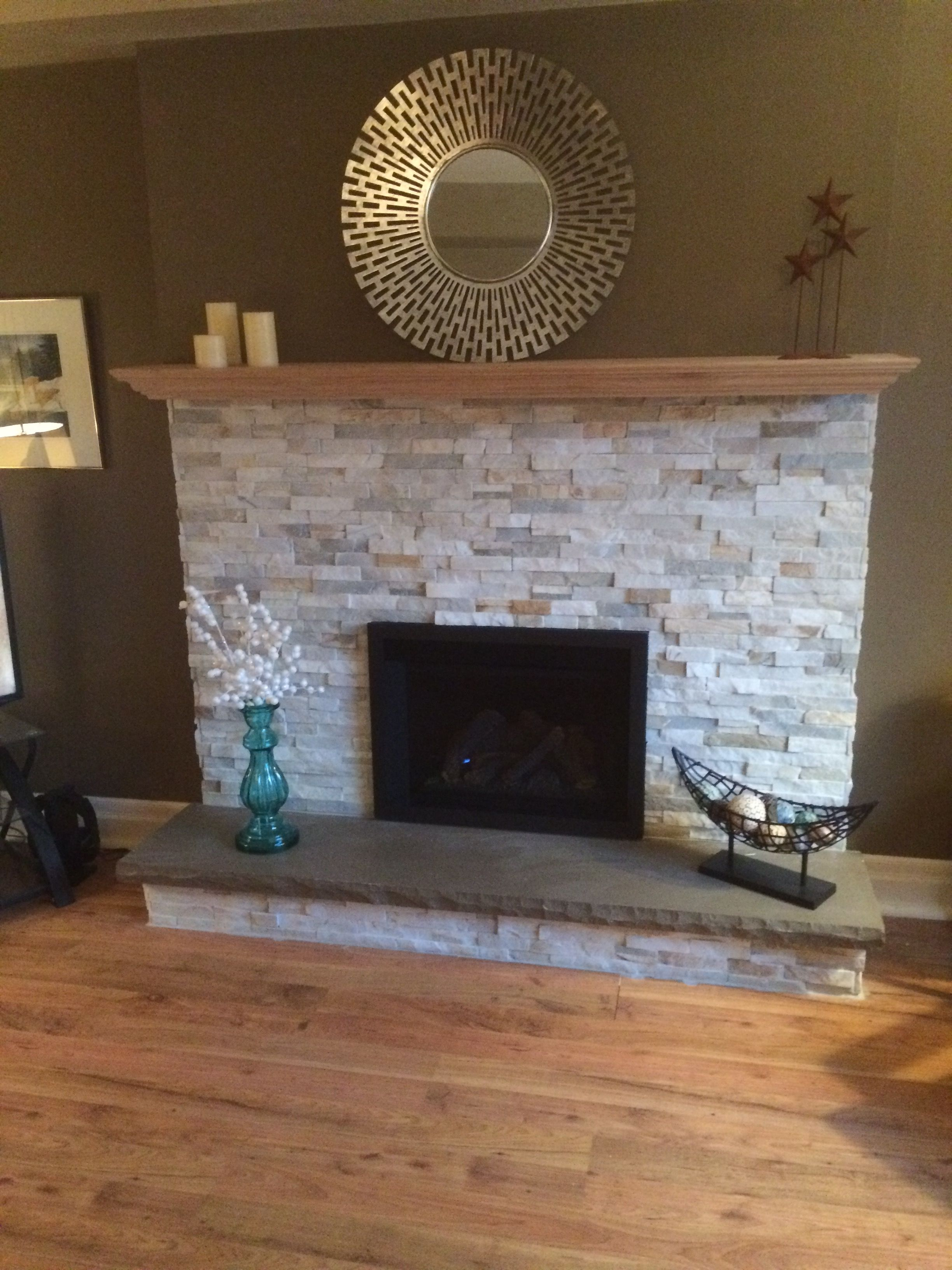 Refaced With Ledger Stone And Drywall Diy House Projects