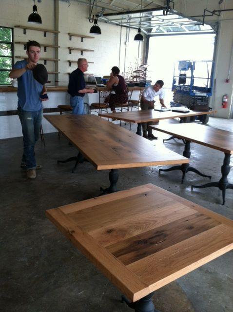 Reclaimed Lumber Clean Face Oak Table Tops For The Adele S Restaurant In Nashville Tn Reclaimedlumber Barnwood Www Eaglereclaimedlumber