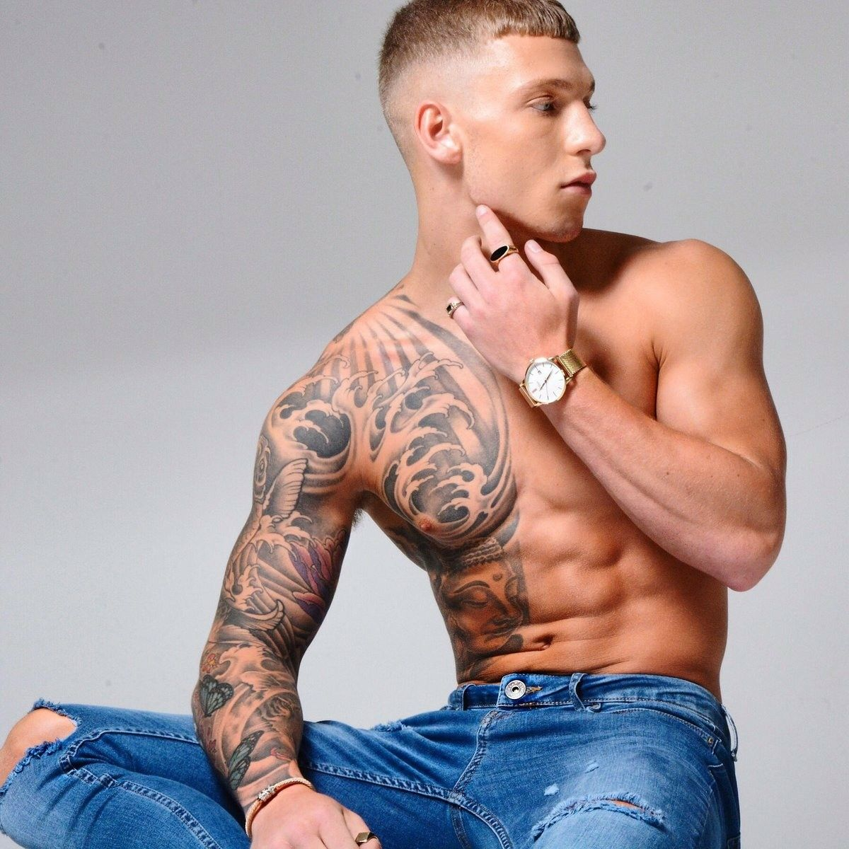 Tattoos for men love pin by love a sweet booty on love a tatted guy  pinterest