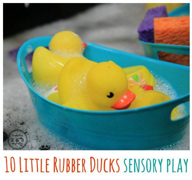 10 Rubber Ducks Sensory Play Eric Carle Activities Rubber Duck Sensory Activities For Preschoolers