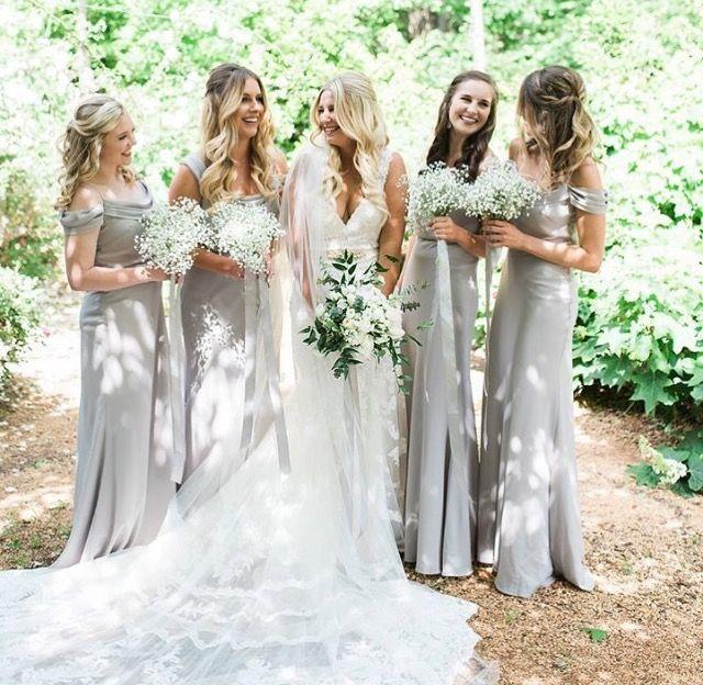 84d22239357 Martina Liana wedding dress and Jenny Yoo bridesmaids