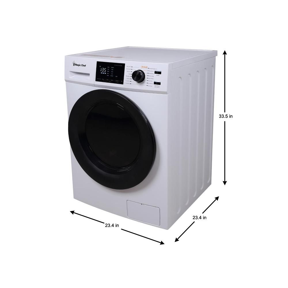 Magic Chef 2 7 Cu Ft All In One Washer And Ventless Dryer Combo In White Mcscwd27w5 The Home Depot In 2020 Ventless Dryer Small Washer And Dryer New Washer And Dryer