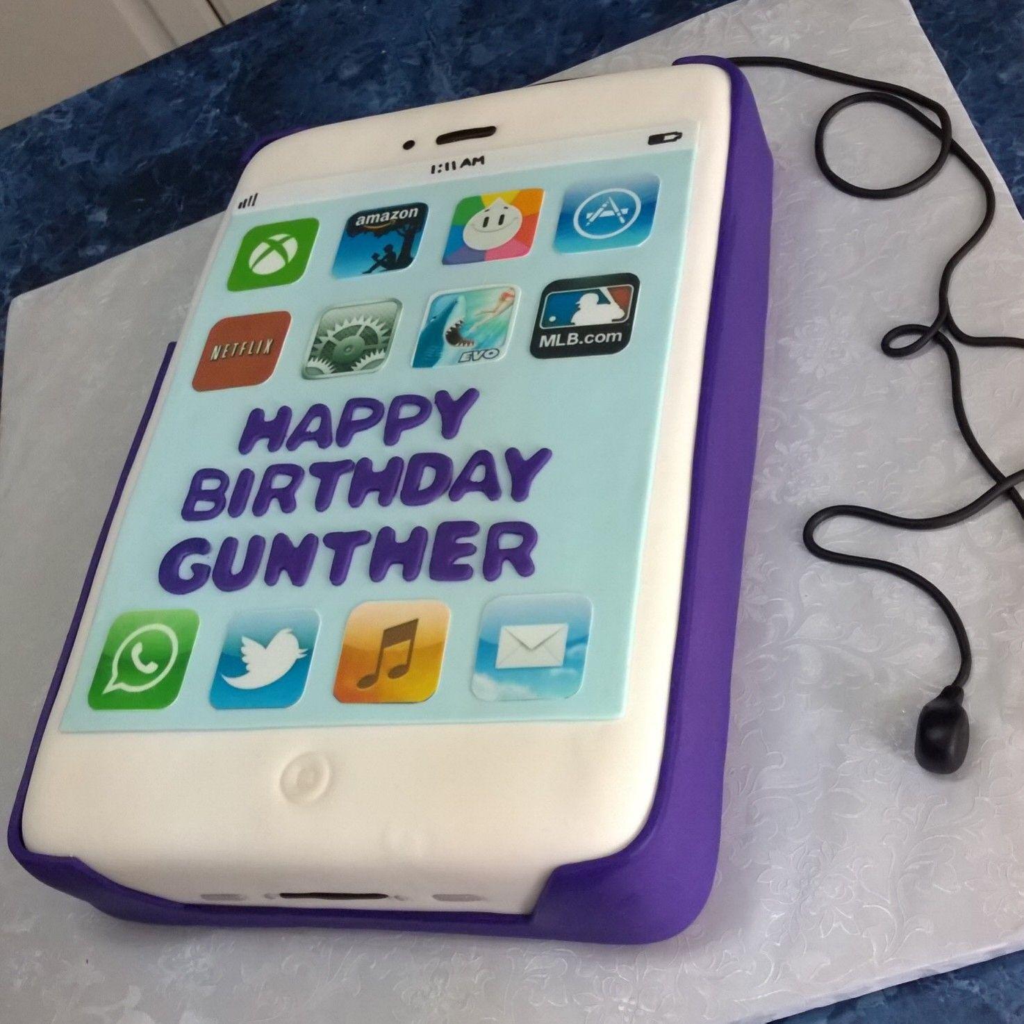 Smartphone cake | Kids cake, Cake pictures, Birthday