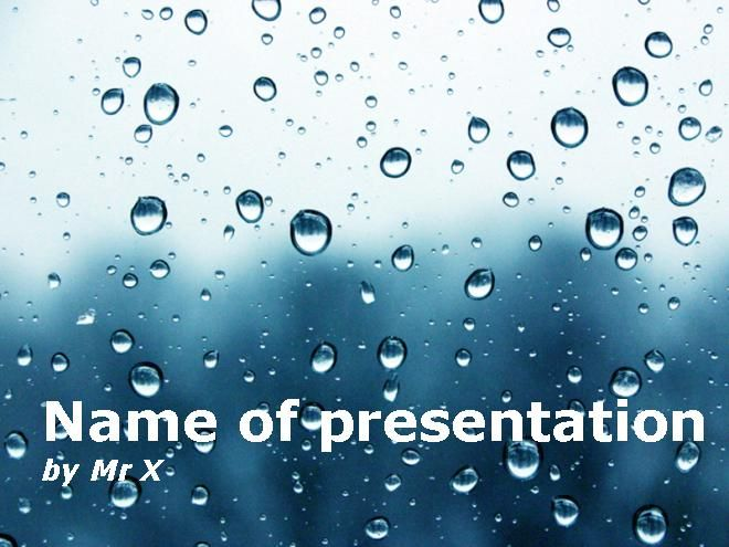 Water Drops Dark Atmosphere Powerpoint Template Presentaciones - water powerpoint template