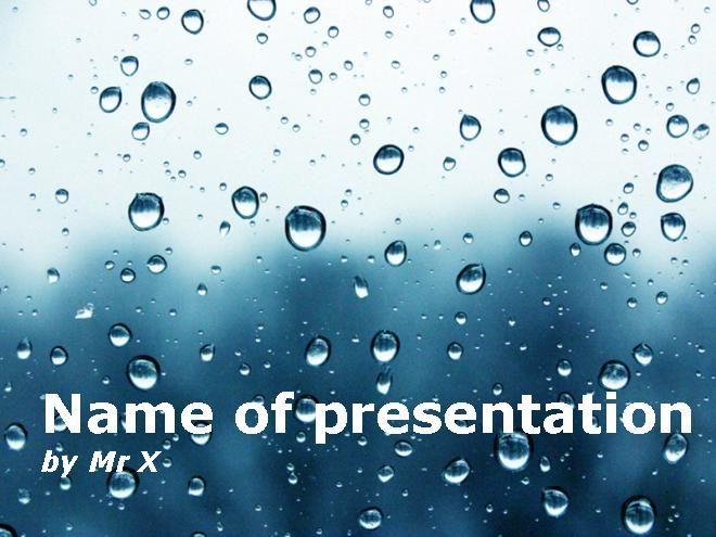 Water Drops Dark Atmosphere Powerpoint Template Presentaciones