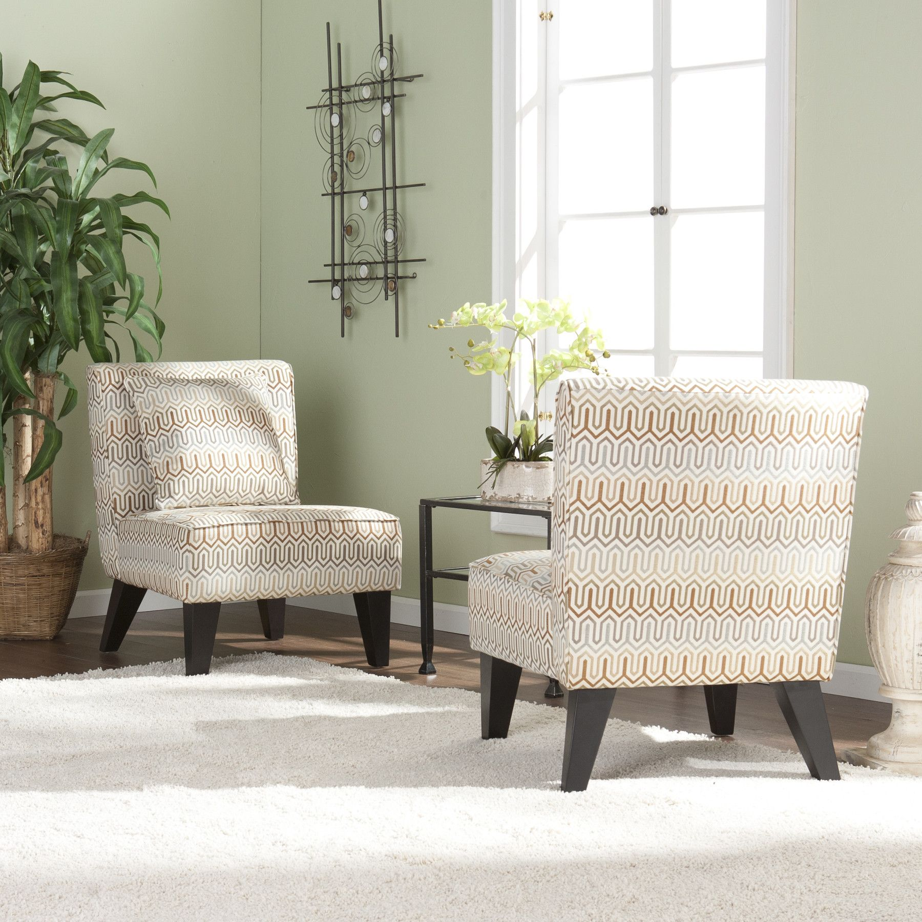 Wildon Home Deva Jade Fabric Slipper Chair Set Of 2 With