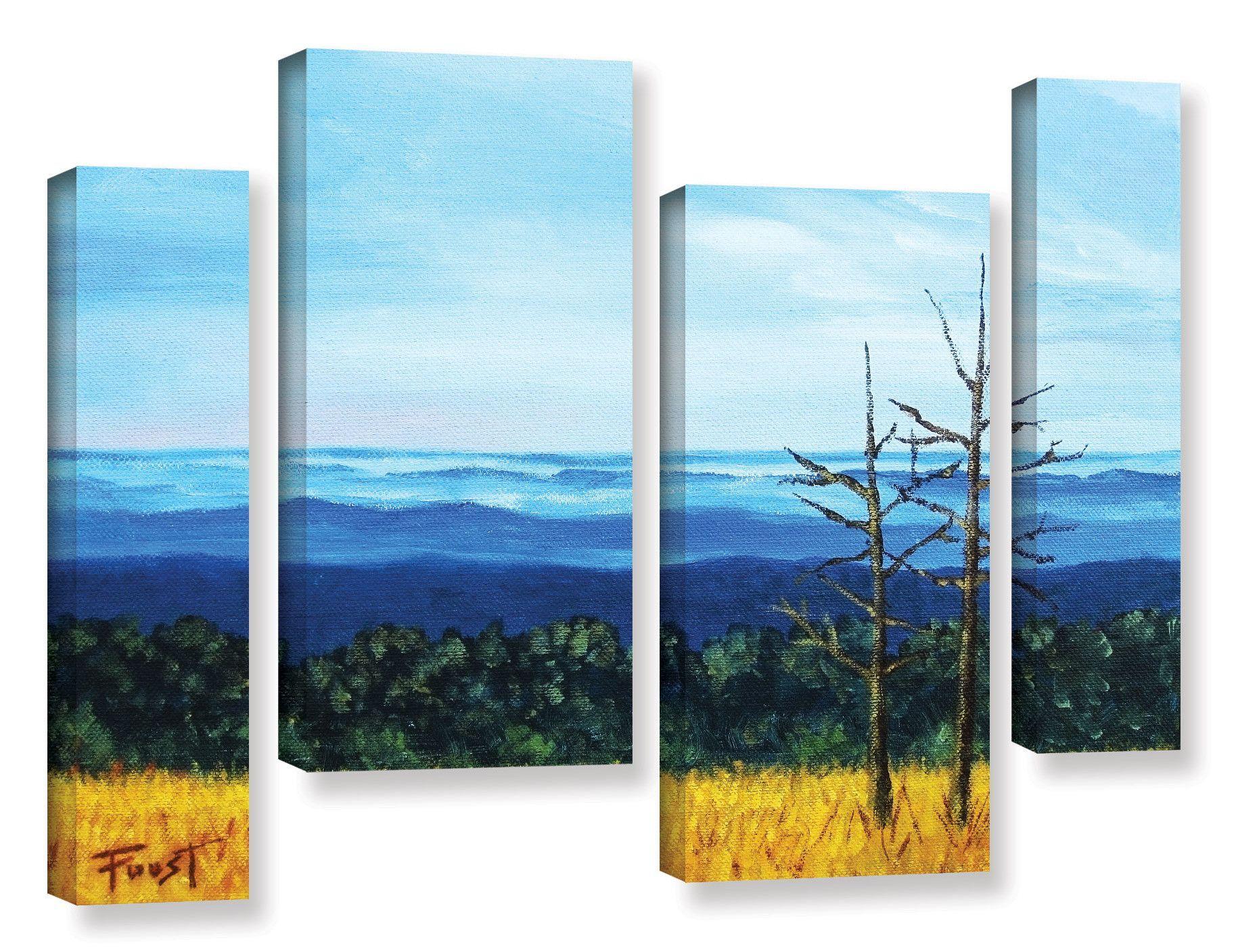 24 x 36 ArtWall 4 Piece Steve Ainsworths Still Waters Floater Framed Canvas Staggered Set
