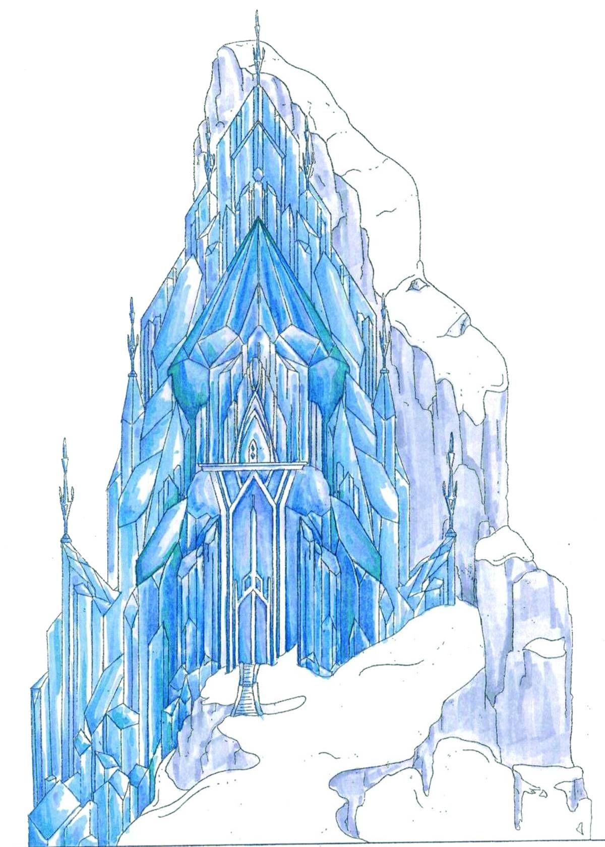 Disney Frozen Village Elsa Ice Palace Aug148250 Frozen Castle