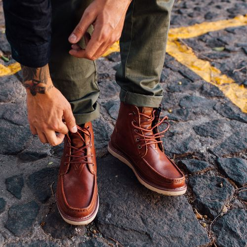 b5b18d9720d Weekend adventure  Pack the TOMS men s Searcher Boot. Durable leather and a  sophisticated build.