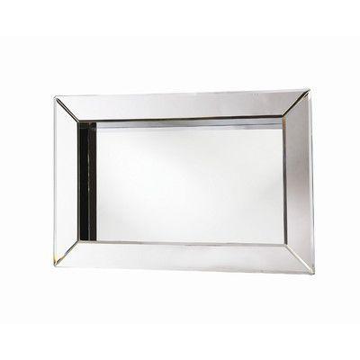 Howard Elliott Angela Rectangular Box Framed Wall Mirror | Wayfair