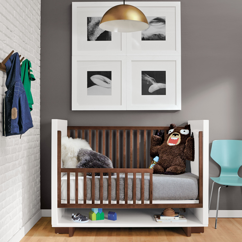 Moda Crib to Toddler Bed Modern Cribs Modern Kids