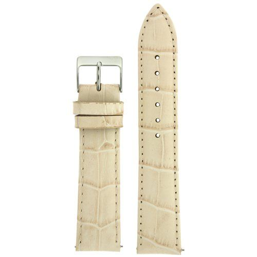Watch Band Crocodile Grain Cream Quick Release Built-In Spring Bars - http://www.bestwatchdeals.co/women/watch-bands-women/watch-band-crocodile-grain-cream-quick-release-built-in-spring-bars-2/ #Band, #Bars, #Built, #Cream, #Crocodile, #Grain, #Quick, #Release, #Spring, #Watch