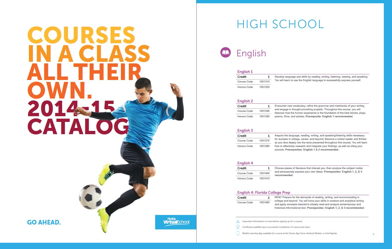 View The Florida Virtual School Course Catalog At Www Flvs Net Flvs Florida Virtual School High School Courses School Help