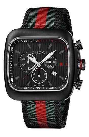 983f7049841 Gucci  Coupé  Chronograph Nylon Strap Watch