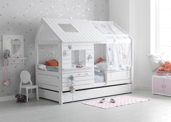 Silver Sparkle Low Hut Bed Babateen Childrens Furniture Kids