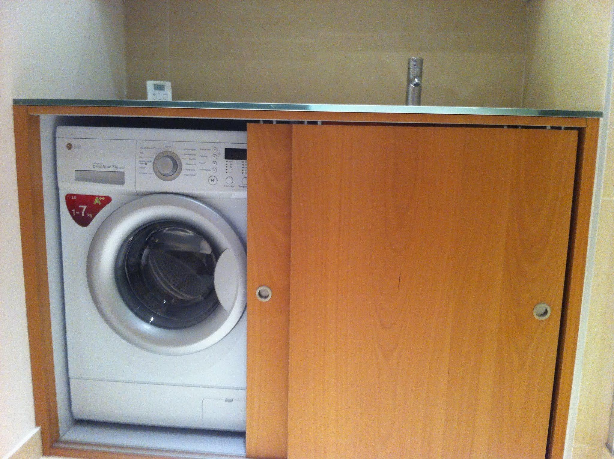r novation d 39 une salle de bain avec lave linge dans meuble vasque meuble vasque lave linge et. Black Bedroom Furniture Sets. Home Design Ideas