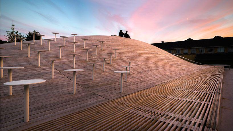 Best Big S Gammel Hellerup Gymnasium Has Vast Undulating Roof 400 x 300