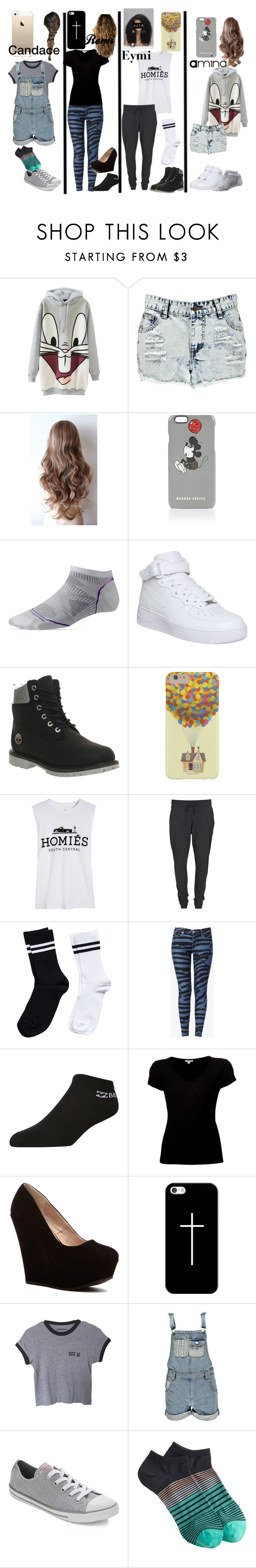 """""""Girls"""" by spreadthepeace890 ❤ liked on Polyvore featuring Boohoo, Markus Lupfer, Smartwool, NIKE, Timberland, Brian Lichtenberg, VILA, Pieces, Hudson Jeans and Billabong"""