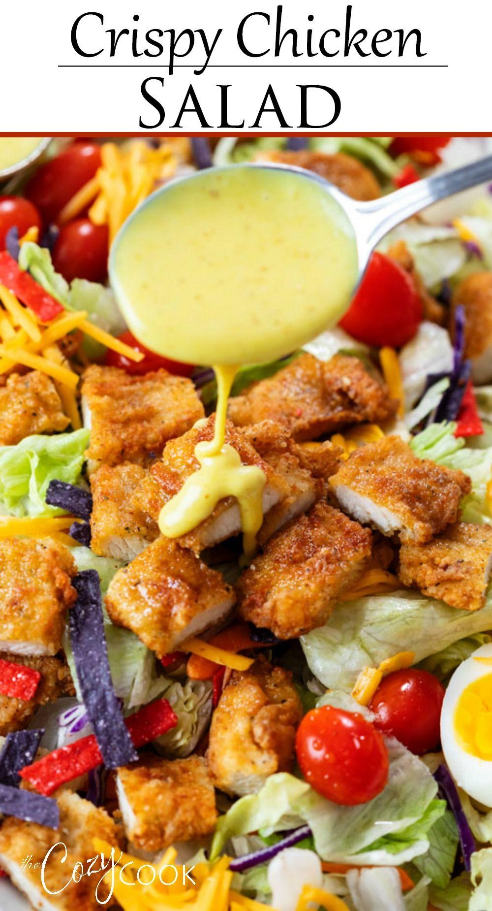 Crispy Chicken Salad Crispy Chicken Salads Healthy Salad Recipes Healthy Eating Choices