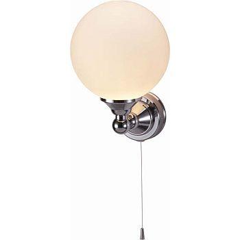 Burlington Edwardian Single Light With Pull Cord Round Light Wall Lights Light